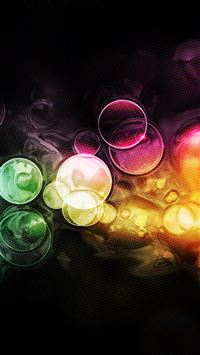 Colorful Bubbles Bokeh iPhone 5(s/c)~se wallpaper