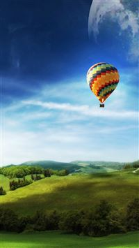 Air balloon in Sky iPhone 5(s/c)~se wallpaper