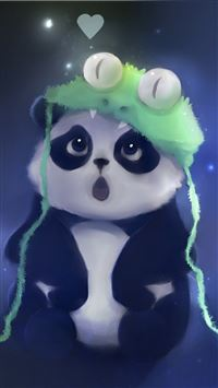 Cute Panda Painting iPhone 5(s/c)~se wallpaper