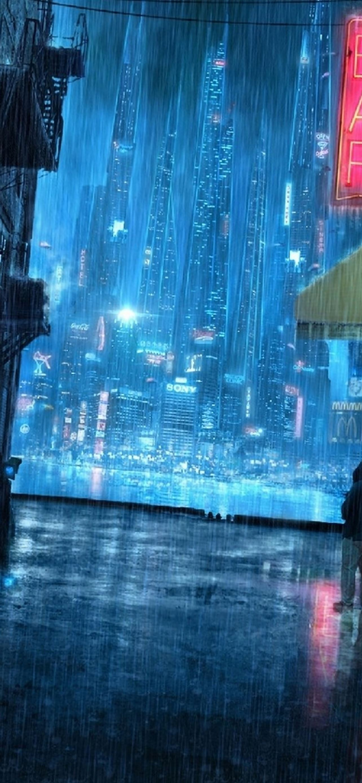 Rainy Night Street Iphone Se Wallpaper Download Iphone Wallpapers