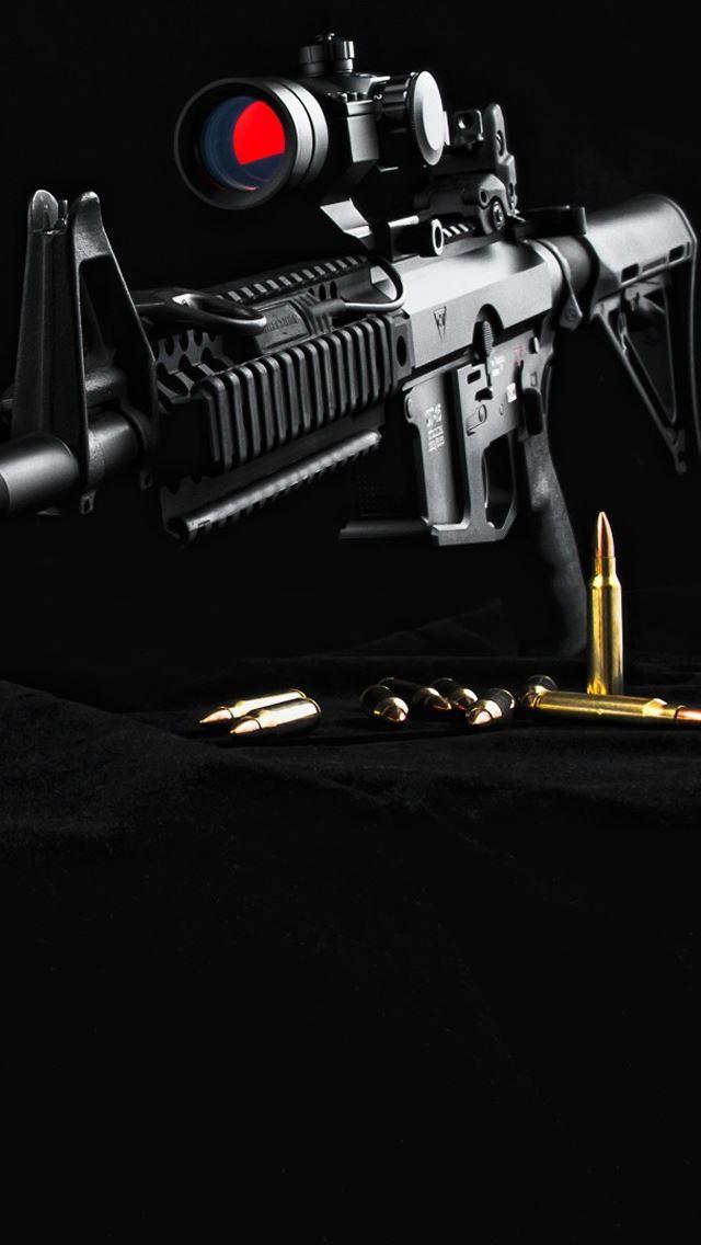 Gun AR15 IPhone Se Wallpaper Download