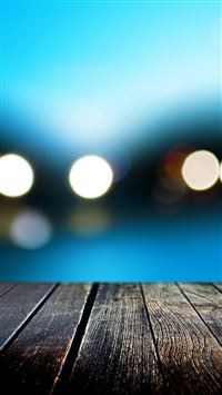Bokeh With Wooden Floor iPhone 5(s/c)~se wallpaper