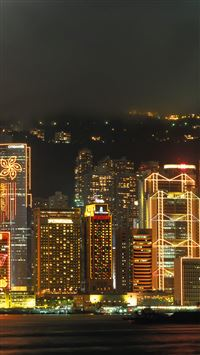 HongKong Nigh iPhone 5(s/c)~se wallpaper