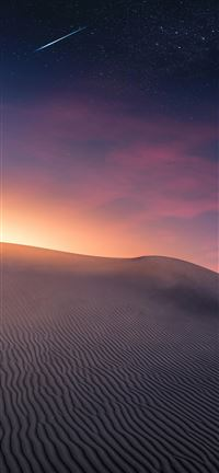 Desert Landscape   Sunset and Comet iPhone 5(s/c)~se wallpaper