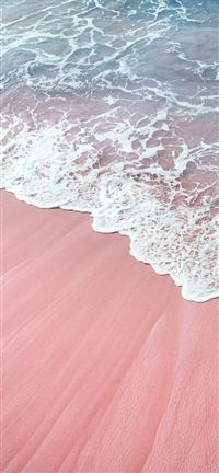 pink wawes iPhone 5(s/c)~se wallpaper
