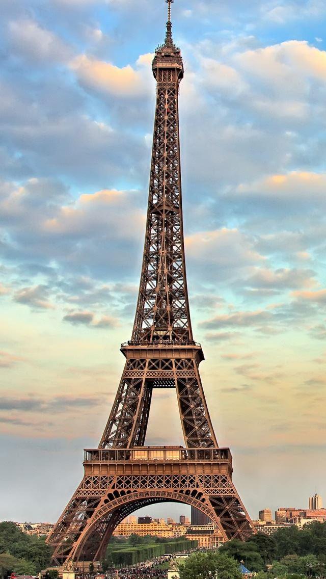 Eiffel Tower Paris Ffrance Iphone Se Wallpaper Download Iphone