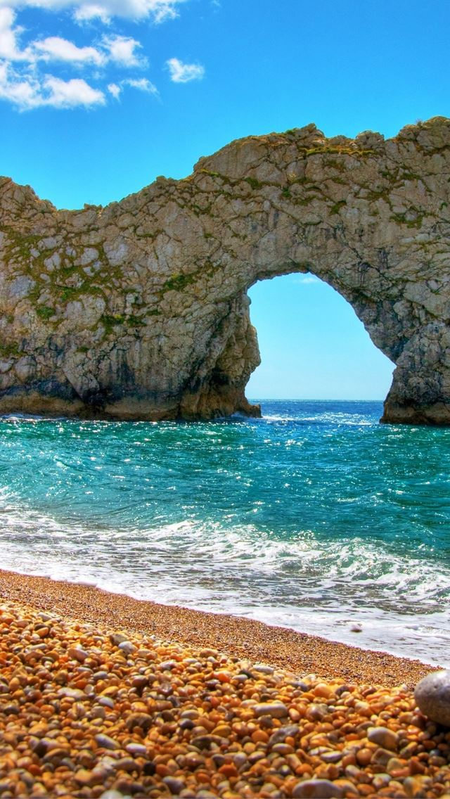 Durdle Door in Summer iPhone se wallpaper