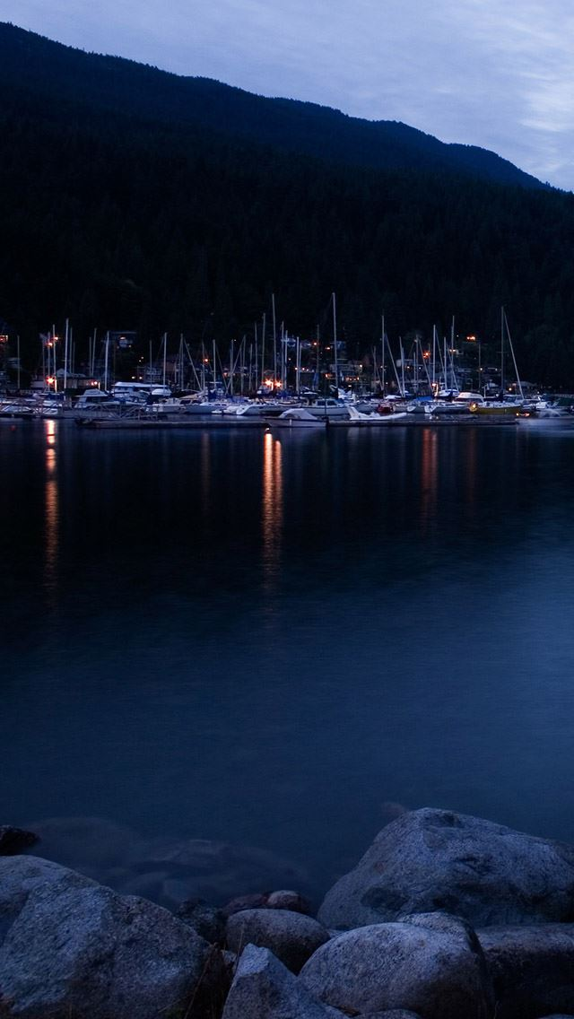 Deep Cove At Dusk IPhone Se Wallpaper