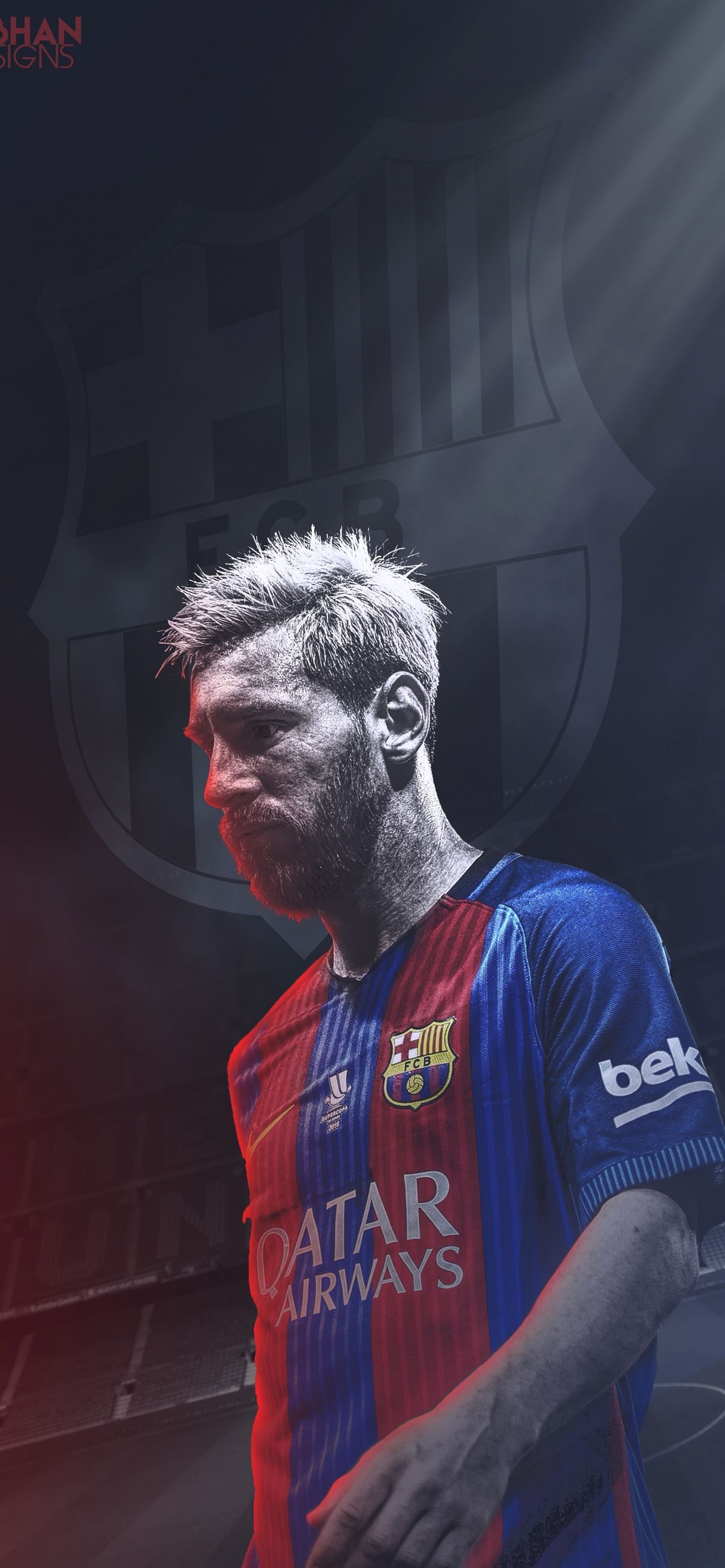 Unique Lionel Messi Barcelona iPhone SE wallpaper