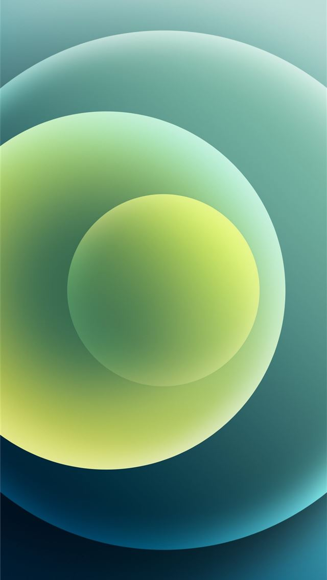 Colorful iPhone 12 Stock wallpaper Orbs Green Light iPhone wallpaper