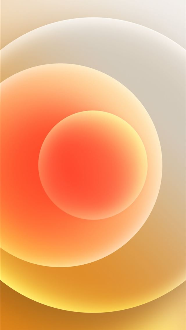 Colorful iPhone 12 Stock wallpaper Orbs Yellow Light iPhone wallpaper
