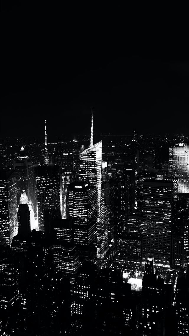 grayscale aerial photography Empire State building iPhone wallpaper