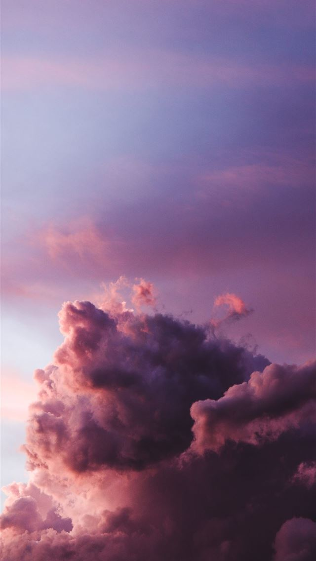 cloudy sky during golden hour iPhone wallpaper