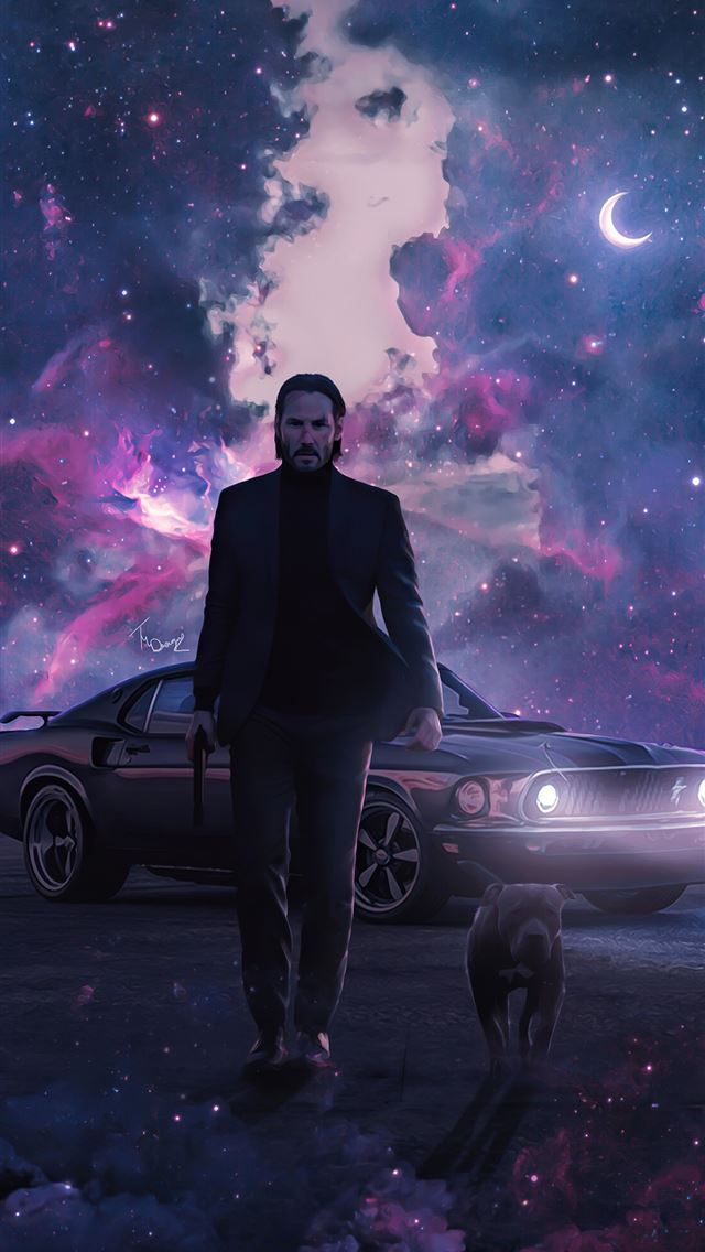john wick dog 4k 2020 iPhone wallpaper