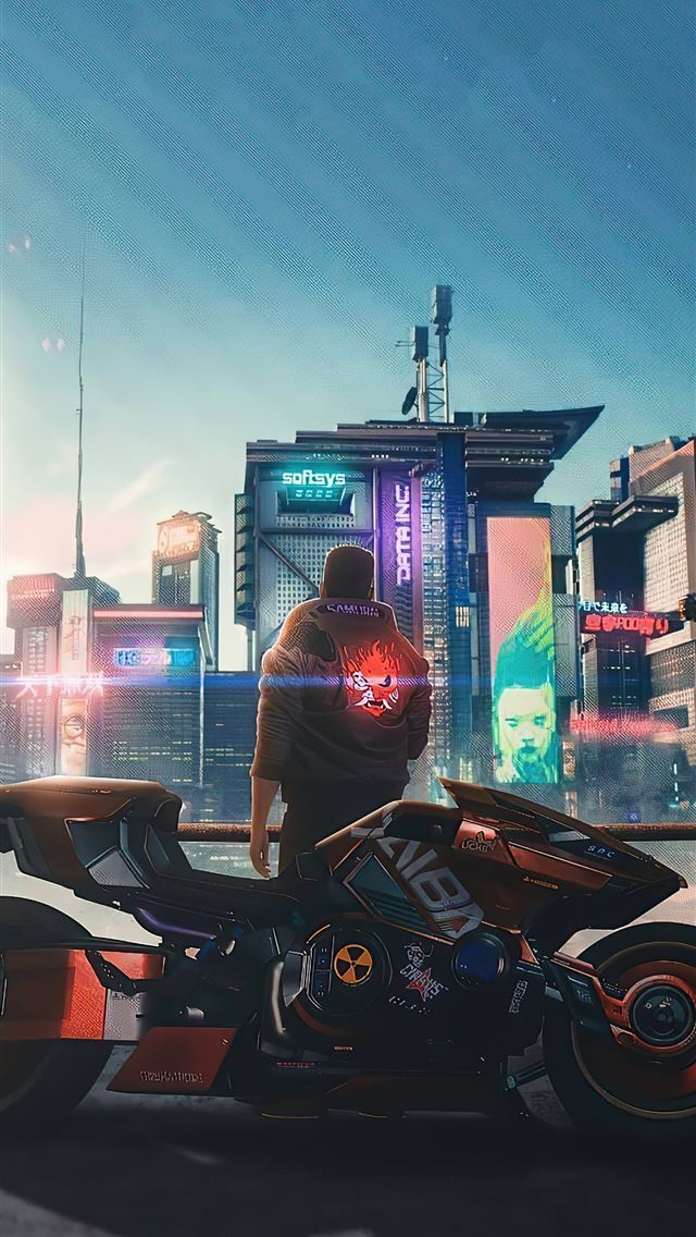 cyberpunk 2077 samurai jacket iPhone wallpaper