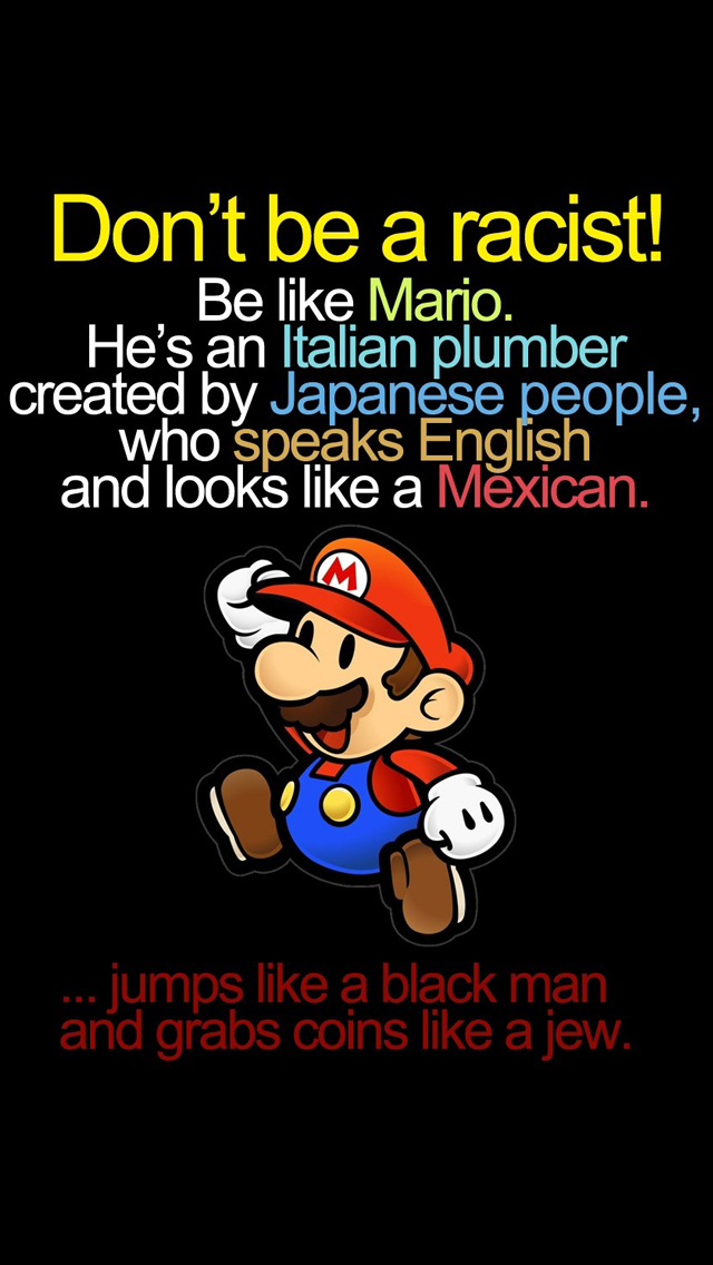 Mario Funny iPhone wallpaper