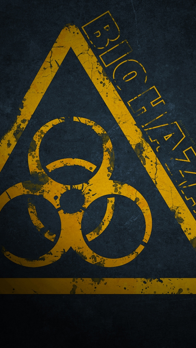 BioHazard Sign iPhone wallpaper