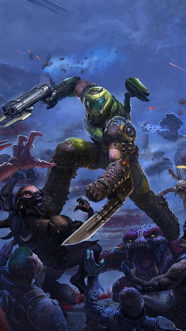 Best Doom Eternal Iphone Wallpapers Hd Ilikewallpaper