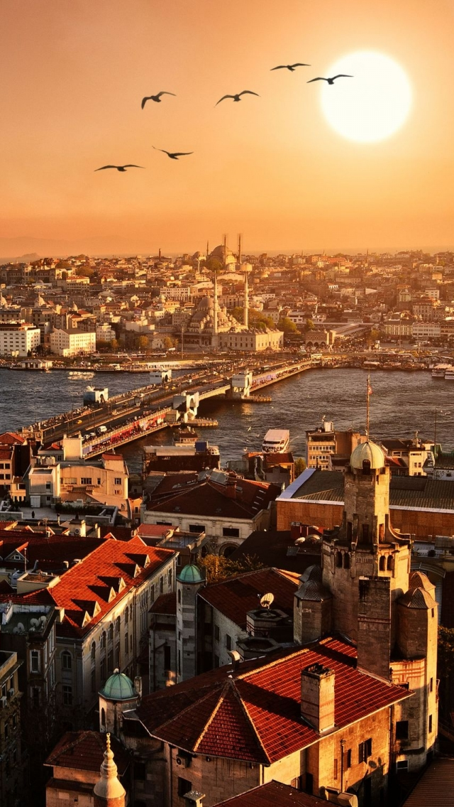 Istanbul City iPhone wallpaper