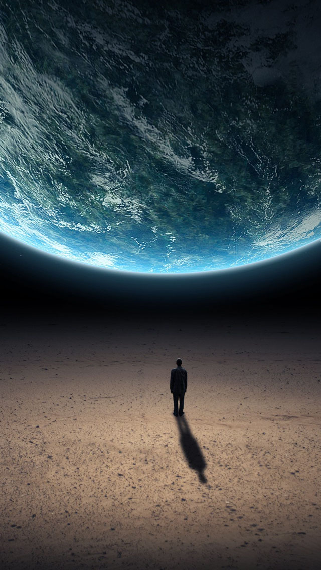 Alone in the universe iPhone wallpaper