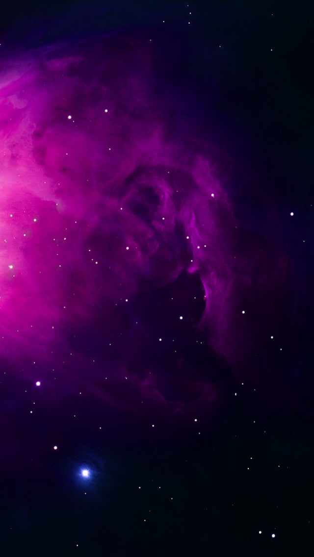 Purple Orion Nebula iPhone wallpaper