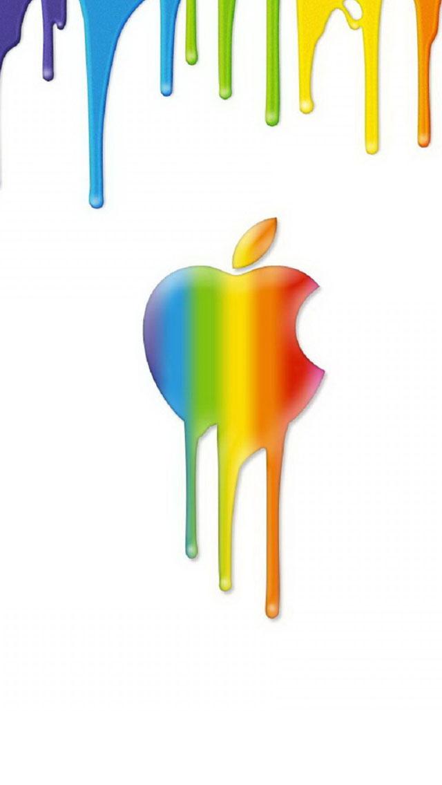 Apple Rainbow Background Iphone Wallpapers Free Download