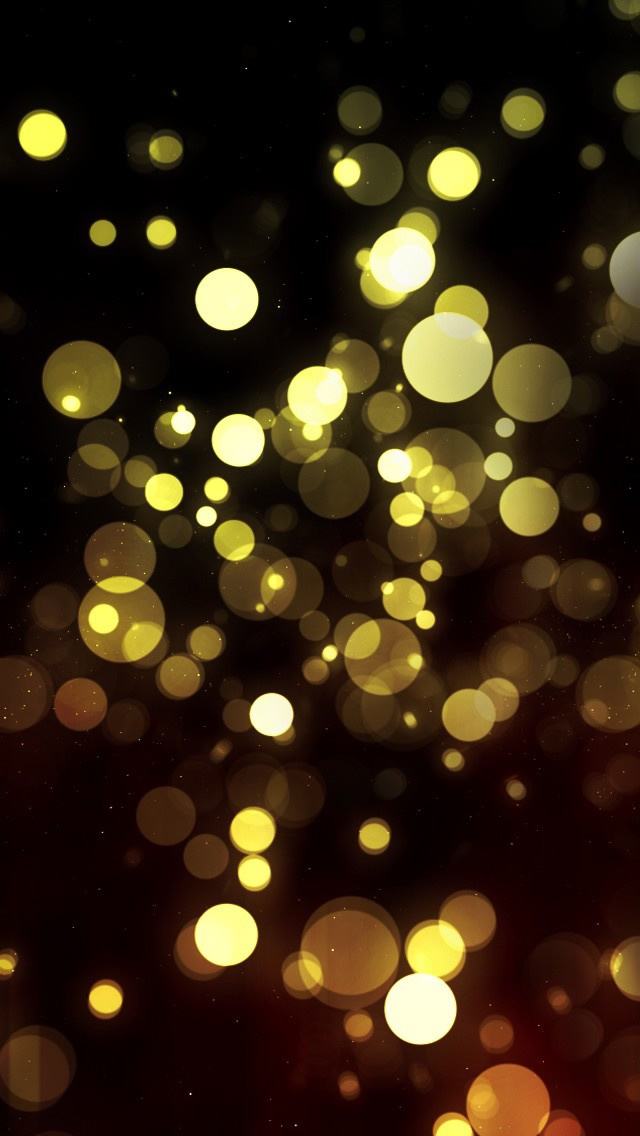 Abstract Golden Bokeh iPhone wallpaper