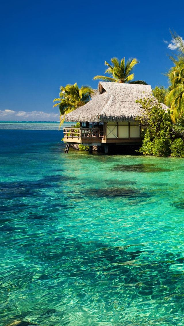 Tropical Resort iPhone wallpaper