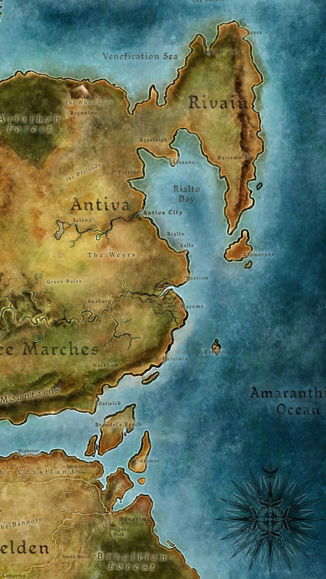 Dragon Age 2 Map iPhone Wallpapers Free Download