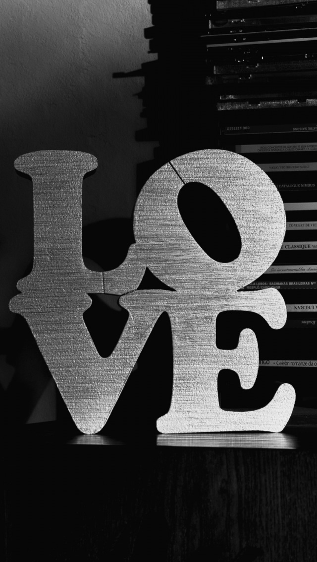 Love Black And White iPhone wallpaper