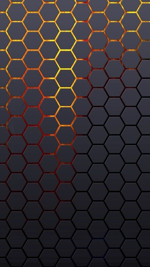 Hexagonal Grid Background iPhone wallpaper