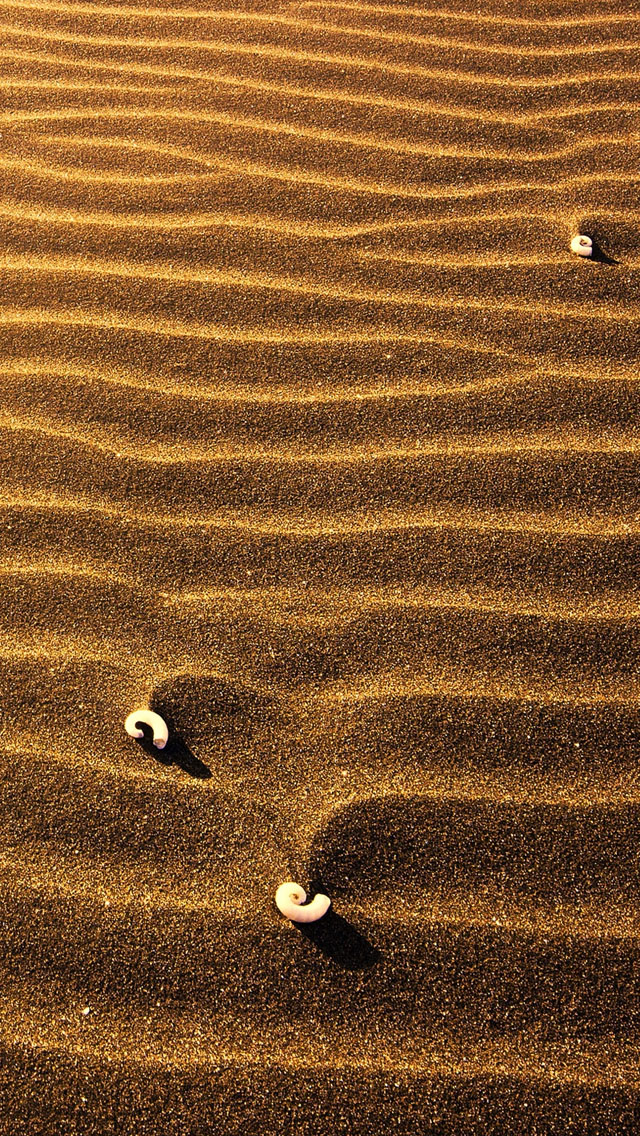 Sand ripples iPhone wallpaper