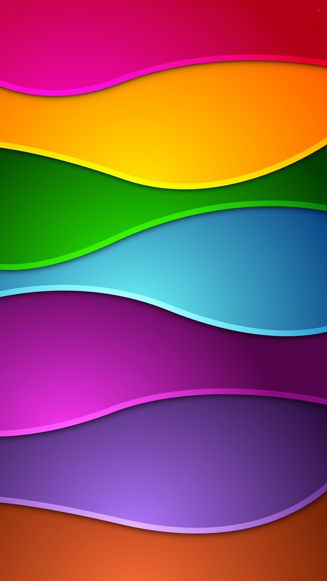 Colorful Waves Iphone Wallpapers Free Download