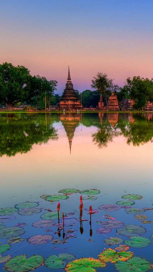 Sukhothai Historical Park Thailand Iphone Wallpapers Free
