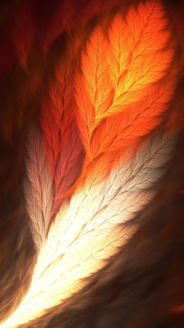Feather Art iPhone wallpaper
