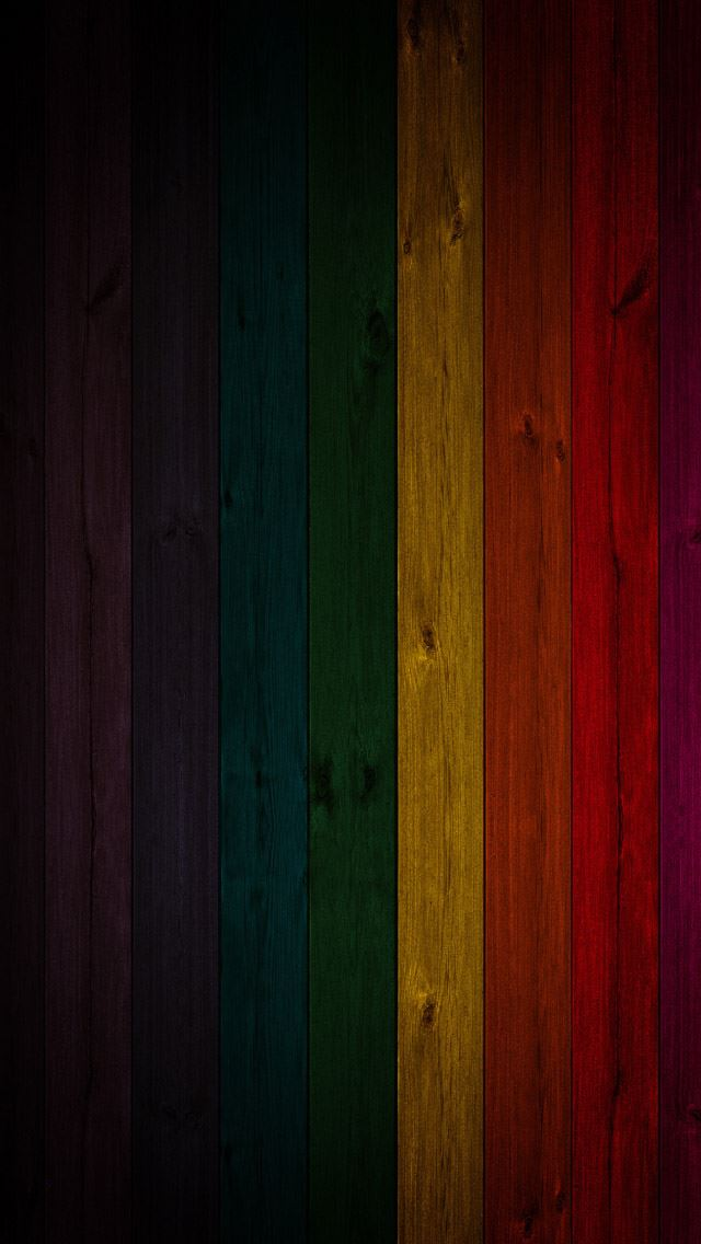 Colorful wood textures background iPhone wallpaper