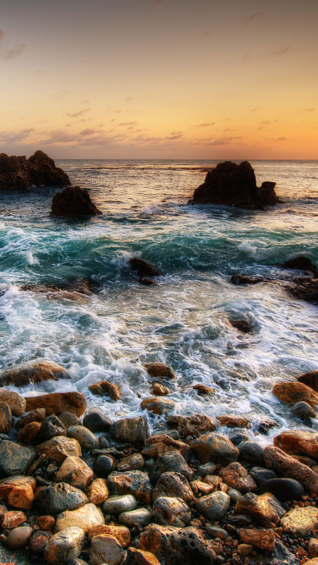 Sea shore iPhone wallpaper