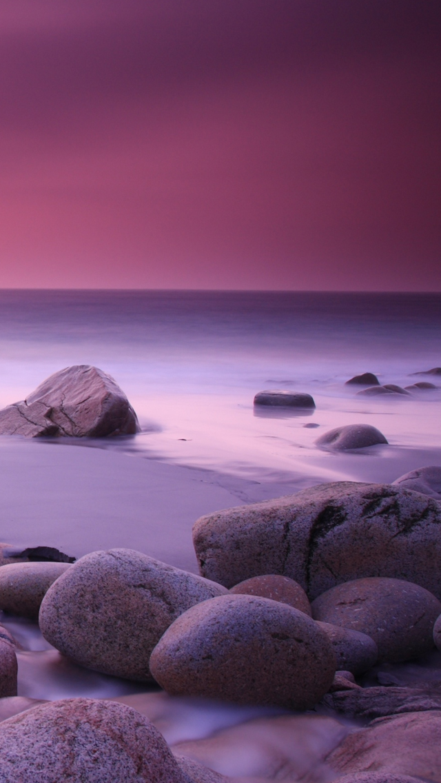 Pink Haze and Stones iPhone wallpaper