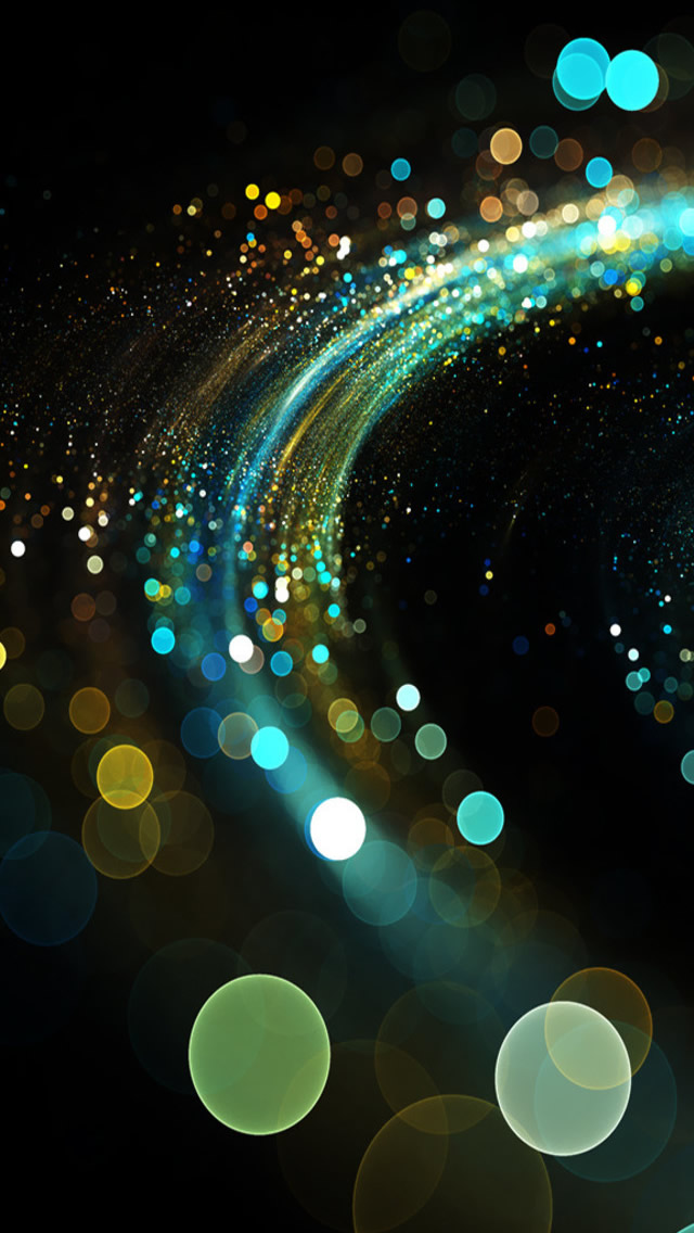 Glowing Spiral iPhone wallpaper