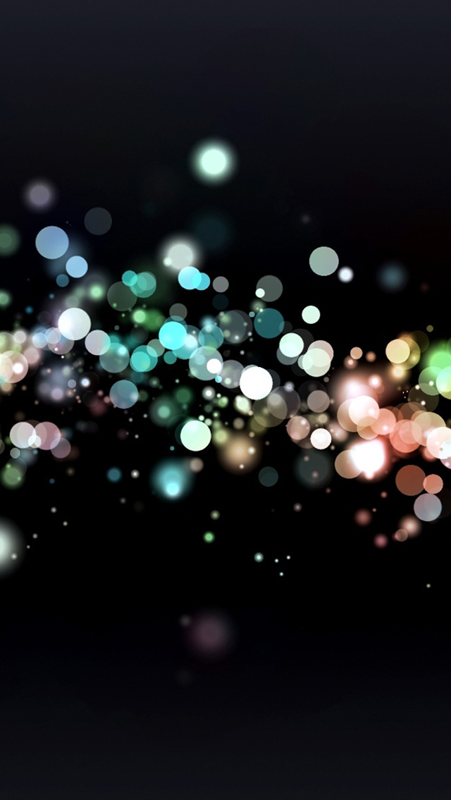 Glowing bubbles bokeh iPhone wallpaper