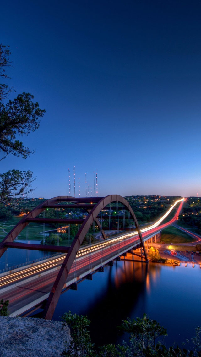 Pennybacker Bridge Austin Iphone Wallpapers Free Download