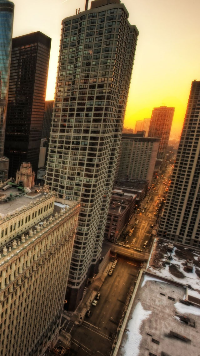 Winter in Chicago iPhone wallpaper