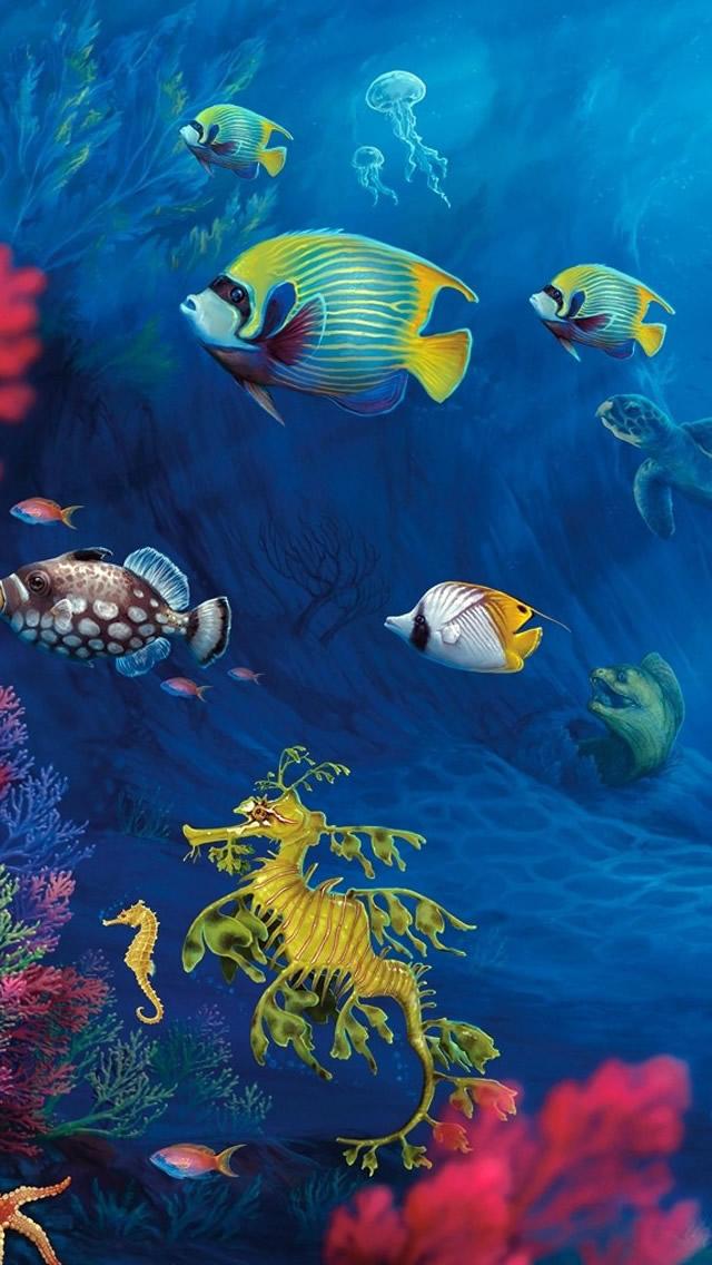 Underwater Life Iphone Wallpapers Free Download