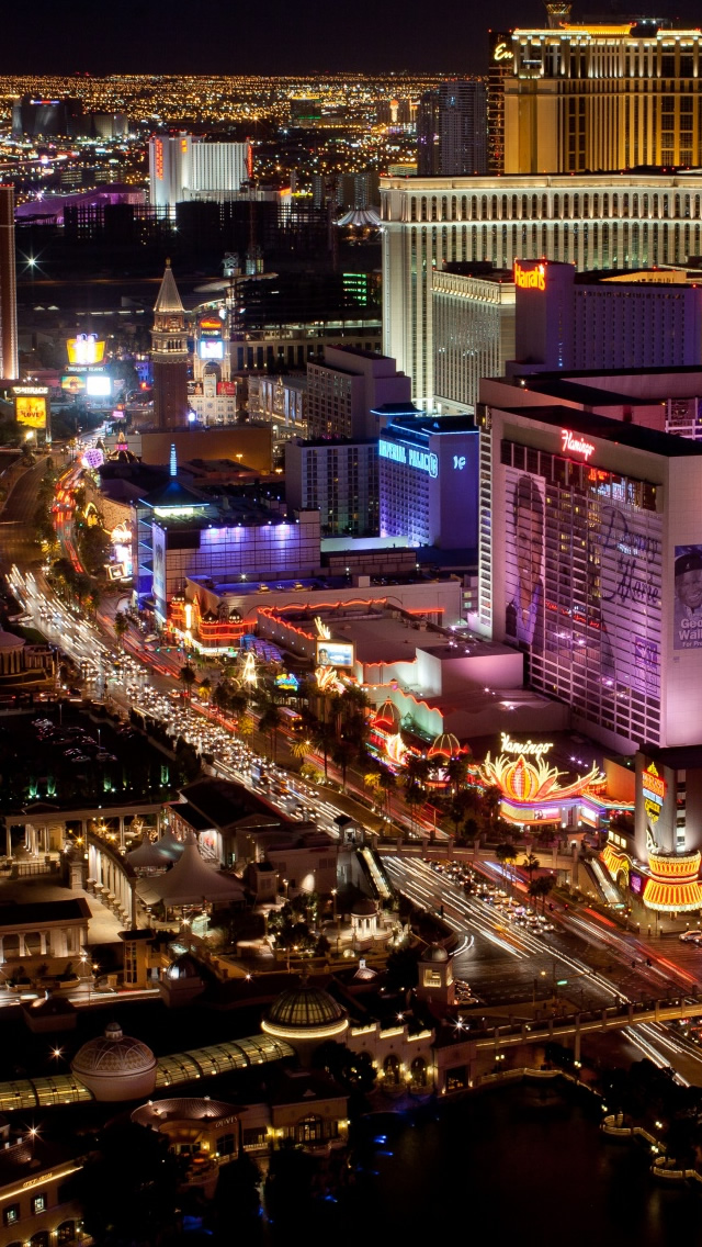 Las Vegas Strip Iphone Wallpapers Free Download
