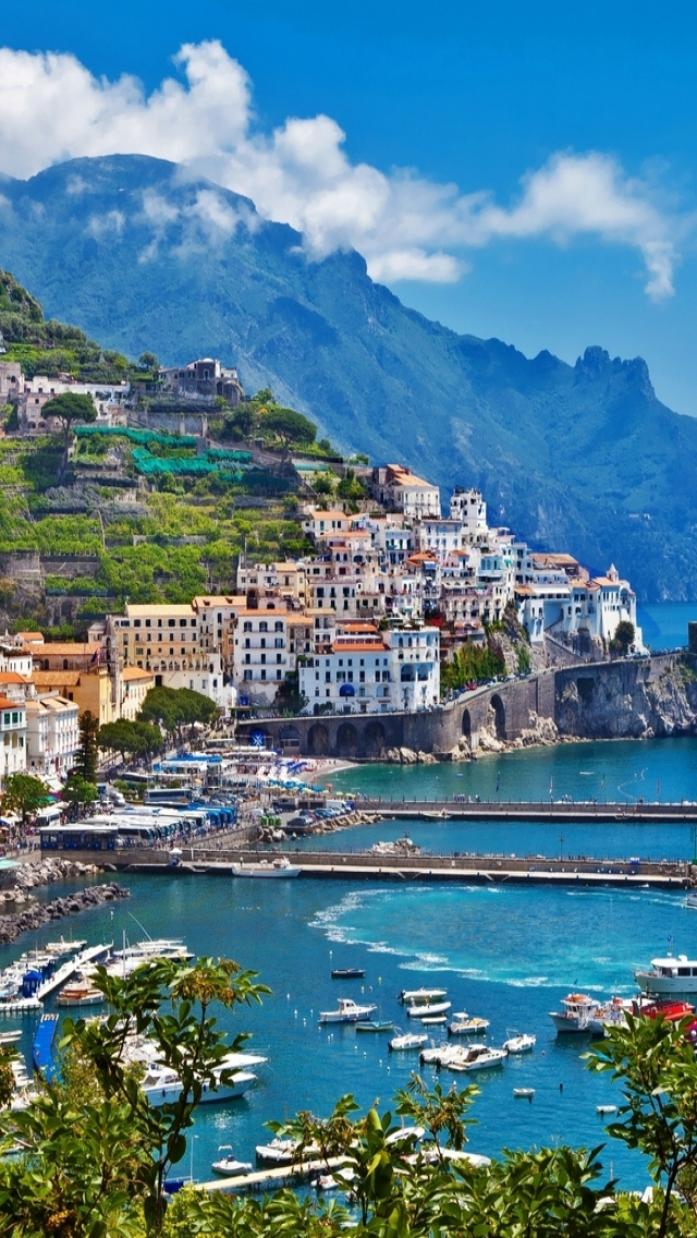 Greece Island City Landscape iPhone wallpaper