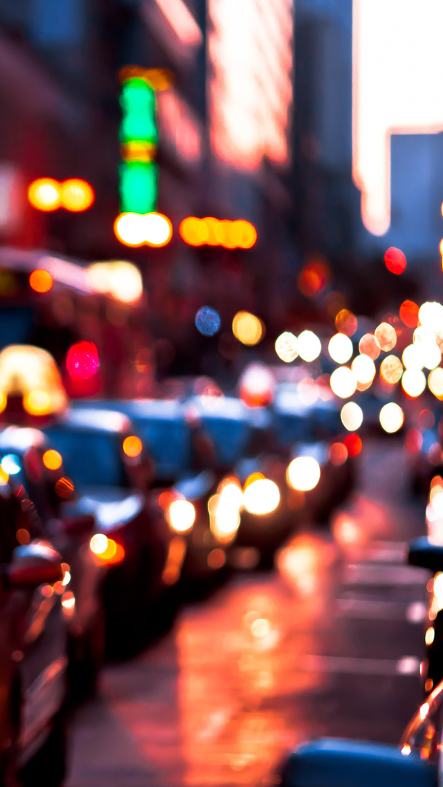 Blurred lights iPhone wallpaper
