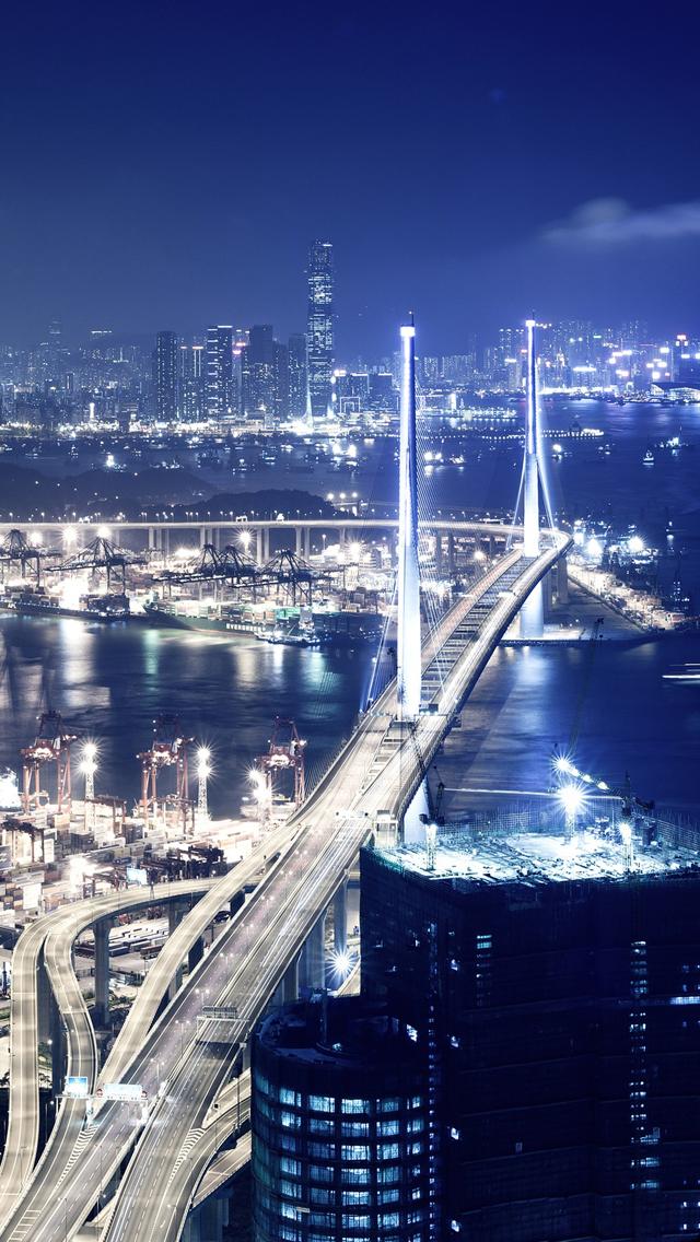 Hong Kong At Night Iphone Wallpapers Free Download