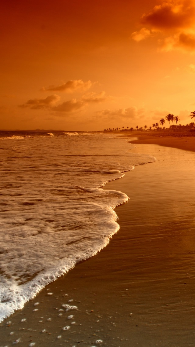 Beach Sunrise iPhone wallpaper
