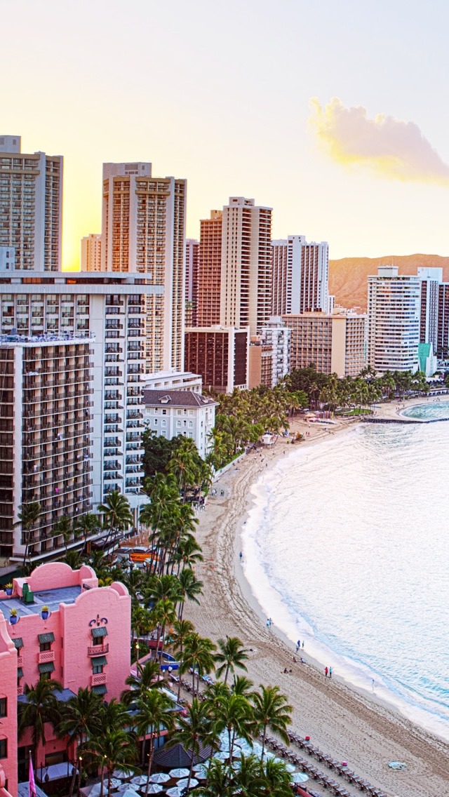 Waikiki Beach Hawaii iPhone wallpaper