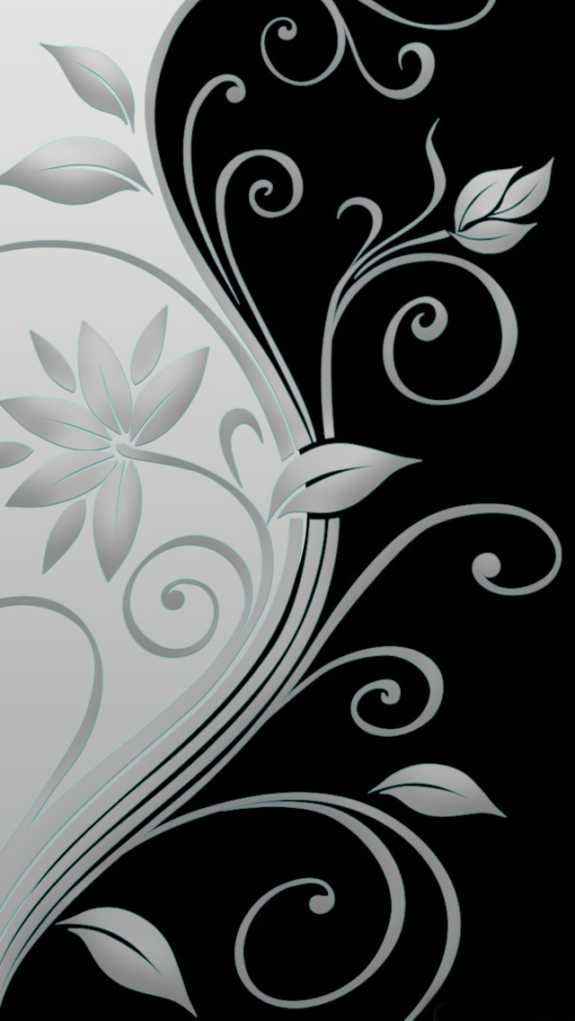 Beautiful vector flowers iPhone wallpaper